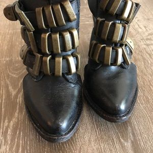 Jeffrey Campbell Tripoli Ankle Strap Buckle Boots